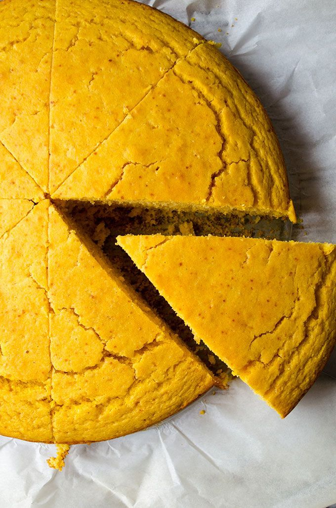 Pumpkin Cornbread - This will become a staple in your kitchen in fall. This is a dense and moist cornbread with a subtle pumpkin flavor.