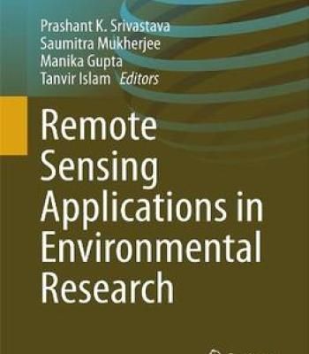 Remote Sensing Applications In Environmental Research PDF