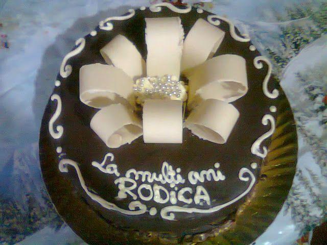 Tort si prajituri Andrea : Tort aniversar cu crema de ciocolata