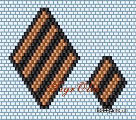 Бантик «Георгиевская лента» из бисера своими руками,плетение кирпичное,плетение мозаичное,день победы,9 мая,георгиевские ленты своими руками...