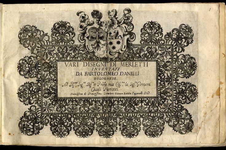 Vari disegni di merletti - Biblioteca dell'Archiginnasio