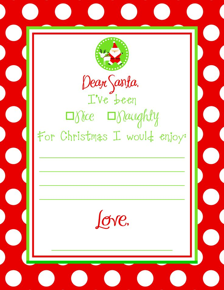 18 best Holiday~Christmas~Kids Stuff images on Pinterest Xmas - christmas letter templates