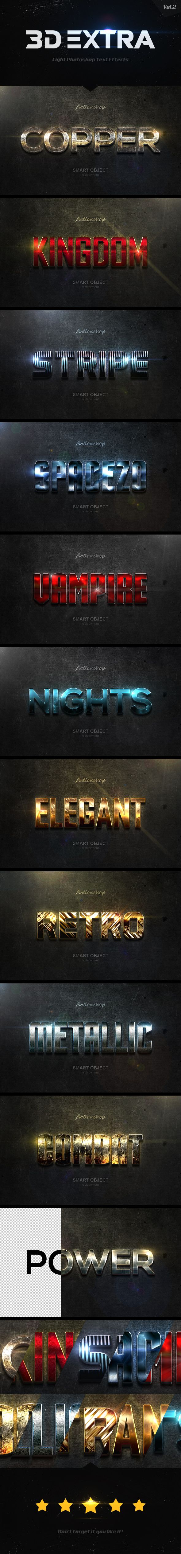 New 3D Extra Light Text Effects Vol.2 - Text Effects #Styles Download here:  https://graphicriver.net/item/new-3d-extra-light-text-effects-vol2/19737536?ref=alena994