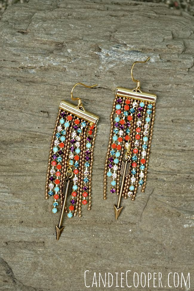 DIY Jewelry Making Fringe Earrings by Candie Cooper