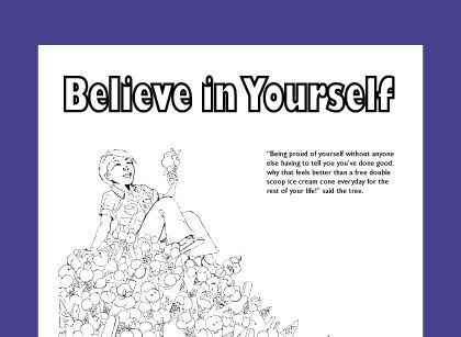 Free Coloring Page For Teaching Self Esteem Free