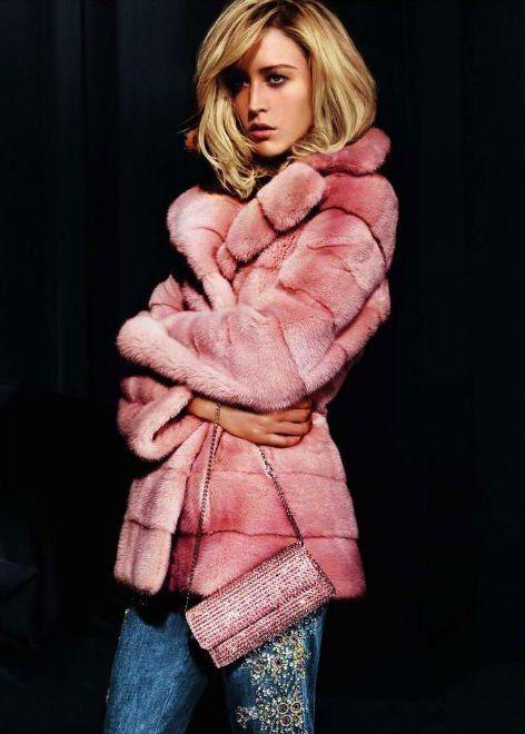 Pink #fur #style #fashion #clothing