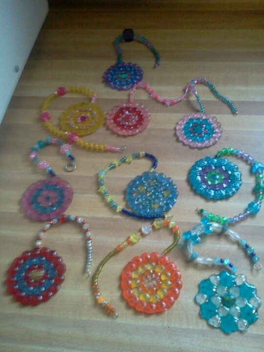 Assorted melted bead suncatchers great summer project must try! :: ecrafty