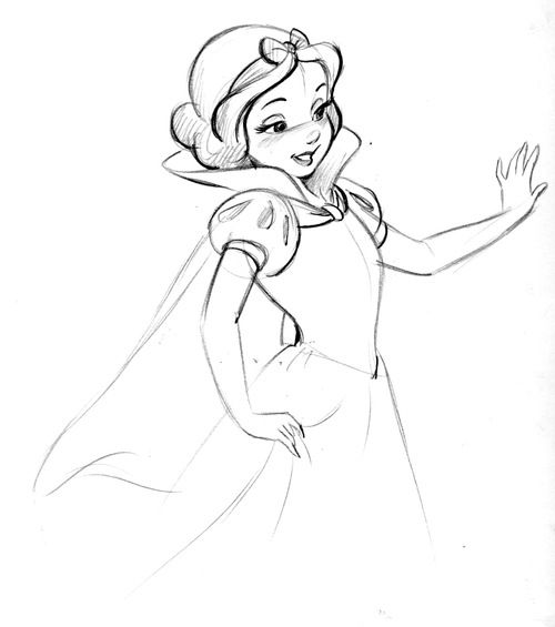 stevethompson-art:  Well, look who decided to show up on the paper for my first sketch of the day. Snow White.   Apparently I deleted this p...