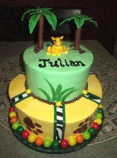 Baby Lion King Edible Cake Image