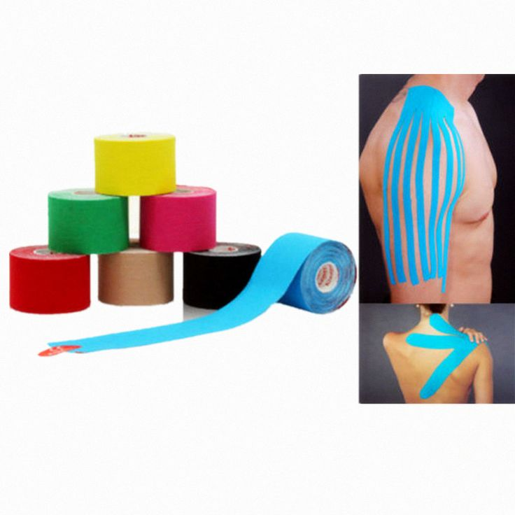 Muscle Tape 5cm x 5m Sports Tape Kinesiology Tape Cotton Elastic Adhesive Muscle Bandage Care Physio Strain Injury Support *** Click the image for detailed description