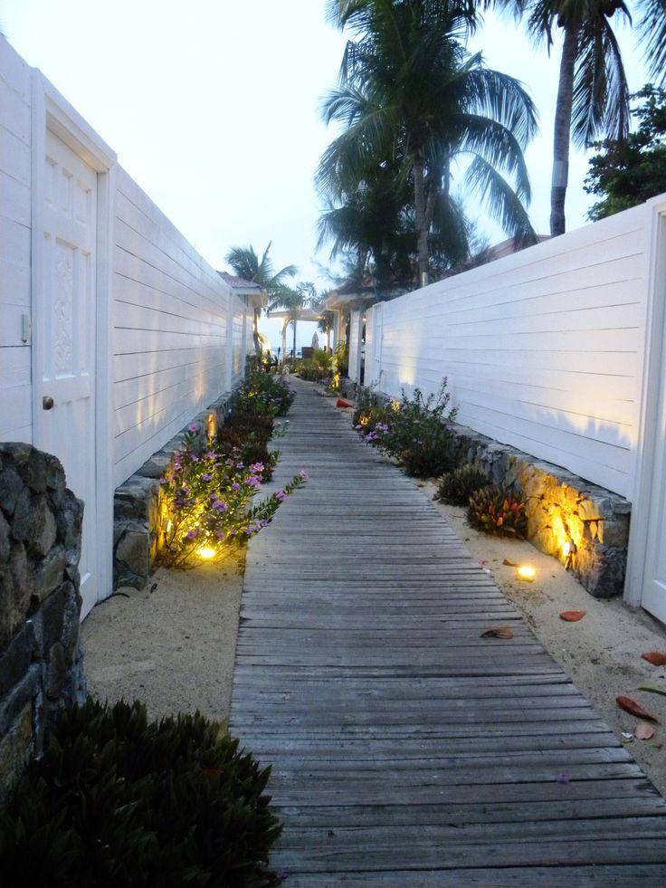 The walkway to Le Shambala