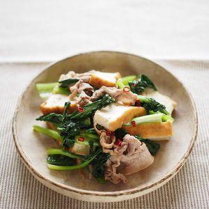 小松菜と豚薄切り肉の炒め煮 by ゆーりん | レシピサイト「Nadia | ナディア」プロの料理を無料で検索