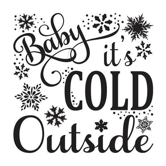 """Primitive Winter/Christmas/Holiday STENCIL**Baby it's cold outside** 12""""x12"""" for Painting Signs, Airbrush, Crafts, Wall Art"""