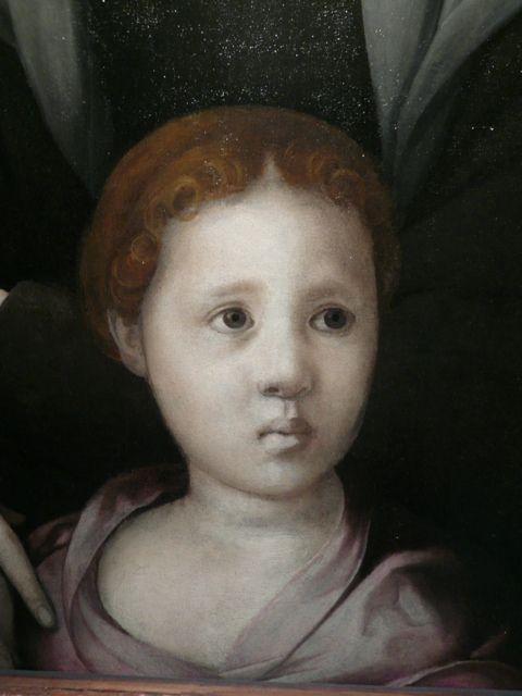 "medievalpoc: "" Jacapo Pontormo Portrait of Maria Salviati de' Medici with Giulia de' Medici Italy (c. 1537)88 x 71.3 x 1 cm Giulia Romola di Alessandro de' Medici (c. 1535 – c. 1588) was the..."