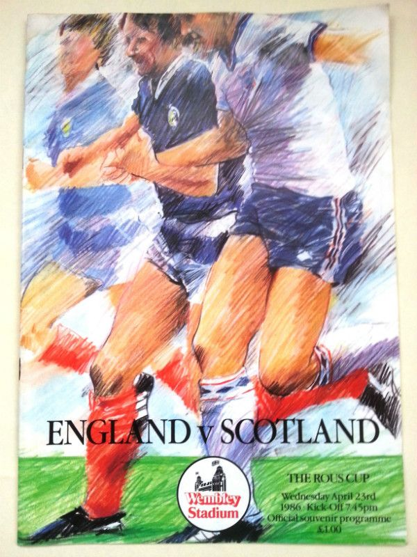 England v Scotland The Rous Cup International Football Programme 23/04/1986 Listing in the Other,International Fixtures,Football (Soccer),Sports Programmes,Sport Memorabilia & Cards Category on eBid United Kingdom