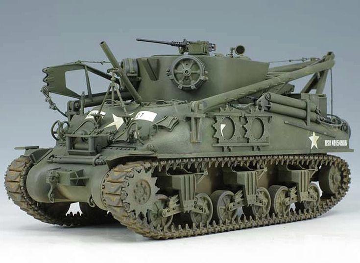 Asuka 1/35 US M32B1 Bergepanzer (Tank Recovery) 35026 :: Asuka :: Static Models :: The Border Online RC Shop
