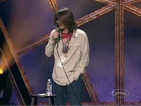 "Mitch Hedberg 2004 Just For Laughs gala. . ""I went to the doctor, and all he did was suck blood from my neck. DO NOT SEE DR. ACULA."""