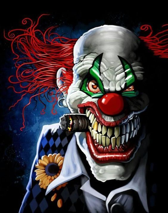 18 best evil clown face tattoos with smoke images on pinterest scary clown mozeypictures Choice Image