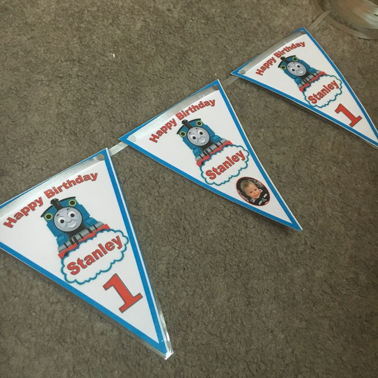 2016.06 Thomas The Tank Engine Personalised Bunting - Stanley's 2st Birthday