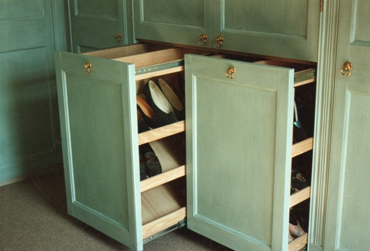 Pull Out Shoe Rack for built in armoire   Around the