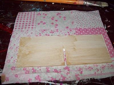 Concretizando Metas: PAP como forrar com tecido divisórias de madeira...