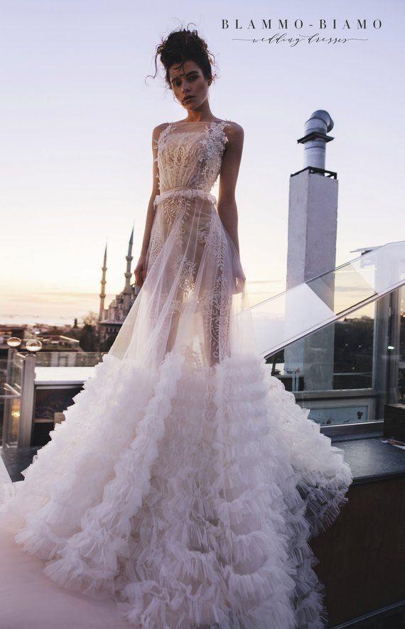 Wedding Dress Veilar With Underdress Sonis By Blammo Biamo Etsy Wedding Dresses Unique Wedding Dresses Wedding Dress Inspiration