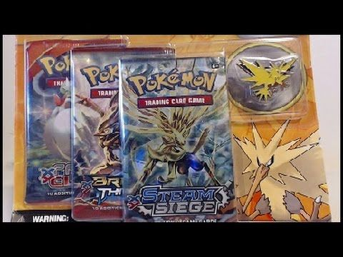 Opening A Pokemon Legendary Birds 3 Boosters with Zapdos Collector's Pin!