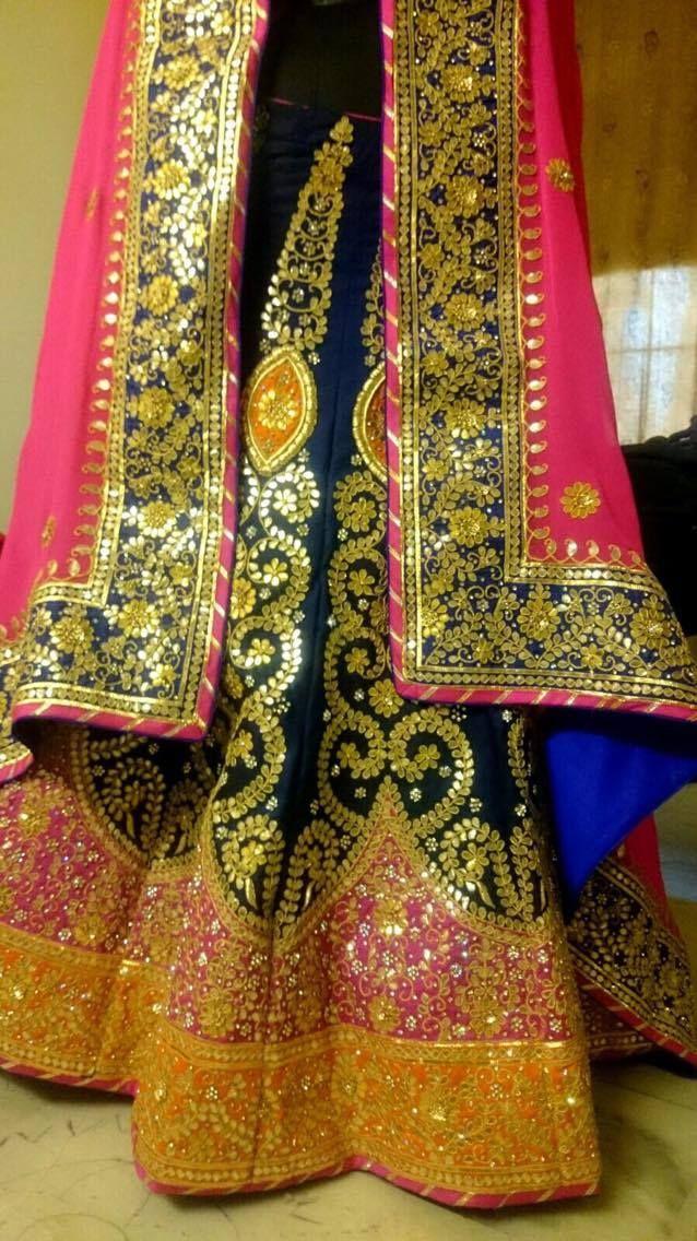 #jaipurbride #gotapatti #pinkbride #bridallehenga #lehenga #peach #summerwedding #indianbride #bridalicious #