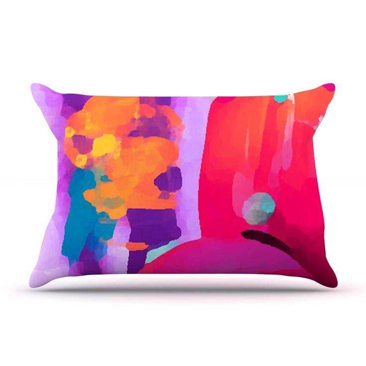 "Oriana Cordero ""Vespa II"" Pink Purple Pillow Case"