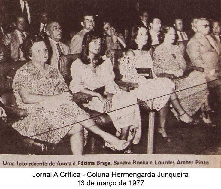 Aurea e Fátima Braga, Sandra Rocha e Lourdes Archer Pinto. Coluna Hermengarda Junqueira do A Crítica de 13 de março de 1977