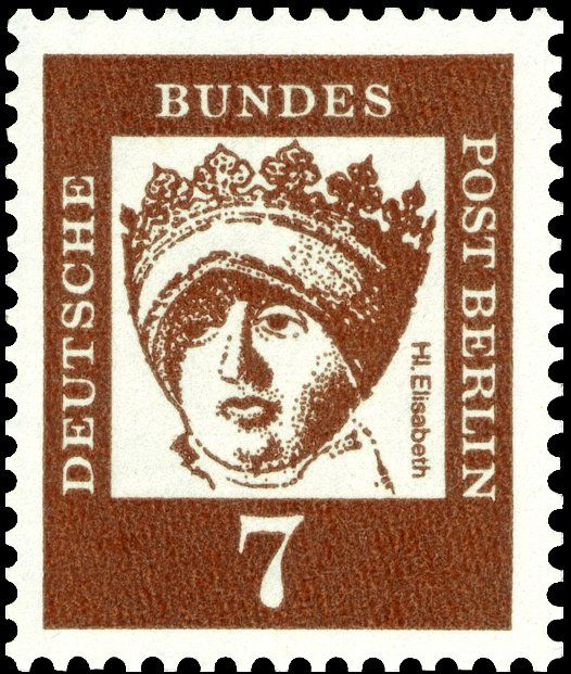 Stamp Elisabeth Von Thuringen 1207 1231 Berlin Major Germans MiDE BE 200SnDE 9N177YtDE 179SgDE B195AFADE 199