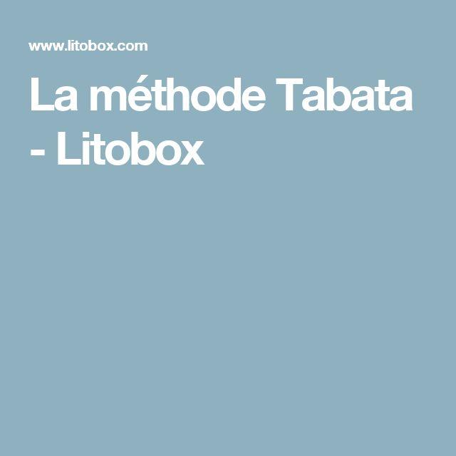La méthode Tabata - Litobox