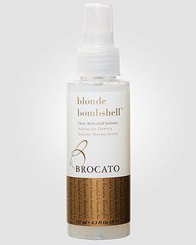 Brocato Спрей для термической активации объема волос BROCATO BLONDE BOMBSHELL HEAT ACTIVATED VOLUME «Сногсшибательная блондинка». 127 мл. #brocato #shampoo #шампунь #hair #волосы #haircare #косметика