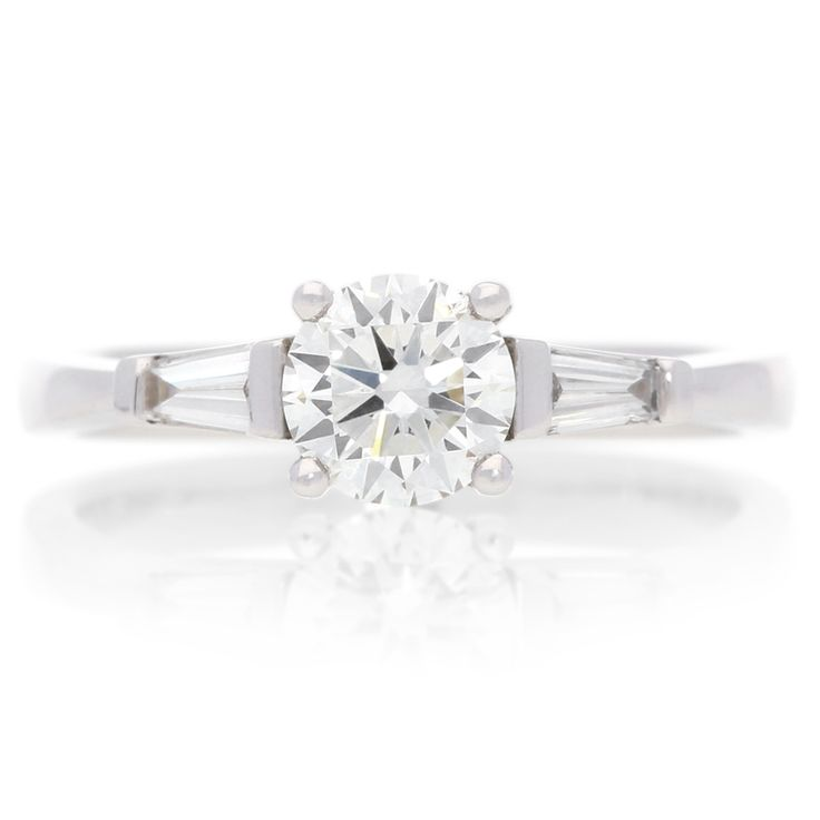 18K White Gold Three-Stone Diamond Ring For Sale by Uwe Koetter.    www.uwekoetter.com