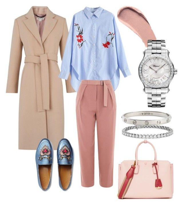 """""""Spring look"""" by dariamedvedeva on Polyvore featuring Whistles, MCM, Topshop, Gucci, Blue Nile, Cartier, Burberry and Chopard"""