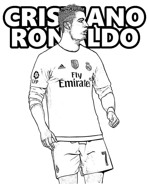 cr7 coloring page