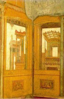 Las ruinas de Pompeya y Herculano nos han descubierto paredes pintadas con trampantojos que simulan ventanas abiertas a paisajes primaverales y construcciones fantásticas,  y estucos que imitan las vetas del mármol.