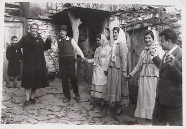 VINTAGE GREECE: Greek villagers dancing a Kalamatiano. Date Unknown.