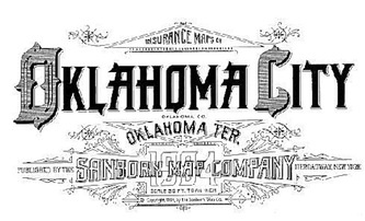 Sanborn Map Typography - OKC!