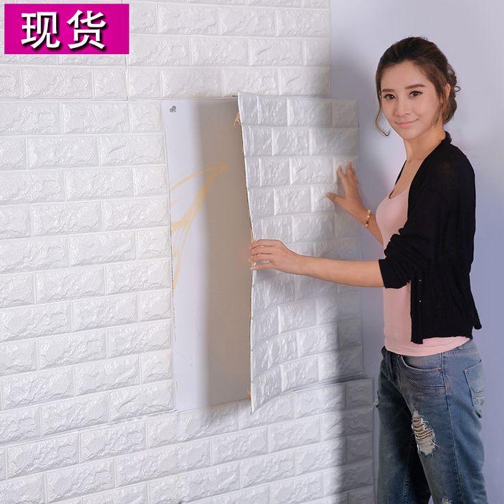 Pas cher PVC 3D le salon mur de briques motif papier peint stickie dortoir chambre rétro brique motif papier peint adhesive392 F, Acheter  Fonds d'écran de qualité directement des fournisseurs de Chine:produit taille:: 70x30 cm, longueur est 70 cm, largeur est 30 cm, un morceaux zone est 0.21 mètres carrés,un morceaux