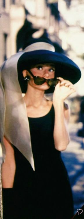 "My favorite hat, worn by Audrey Hepburn in the movie, ""Breakfast at Tiffany's"". #hats #AudreyHepburn"