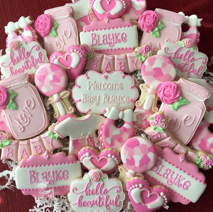 best baby cookies images on   baby shower cookies, Baby shower invitation