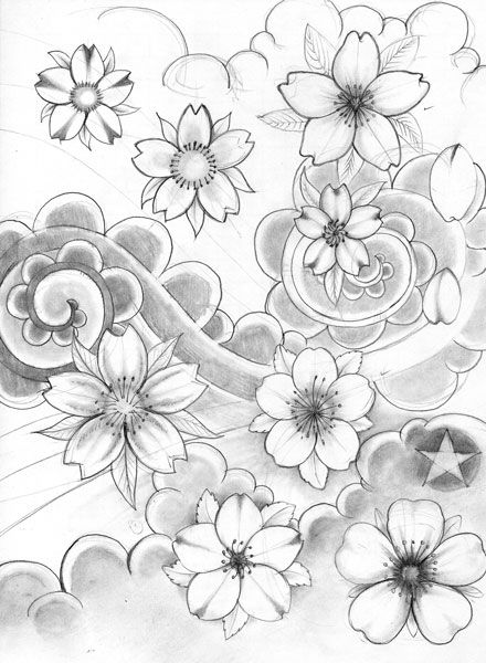 cherry blossom tattoo                                                       …