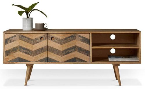 Herzen midcentury-style media unit at Swoon Editions