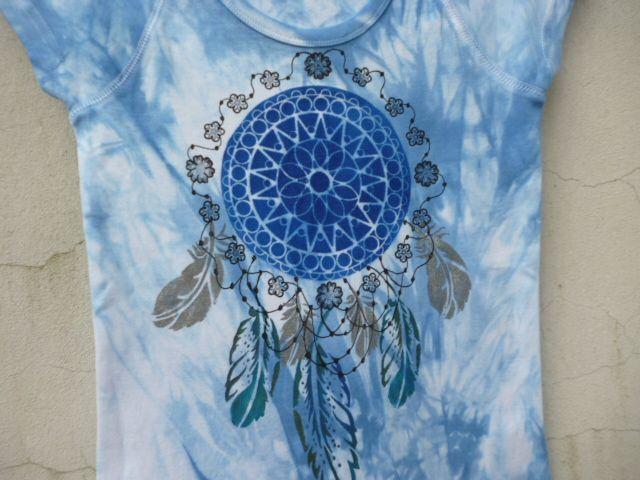 S-+sv.+modrá+a+lapač+100%+ba+tričko+malované,+obvod+hrudi:+72cm,+délka:+56cm,+prát+i+žehlit+porubu+do+40st.