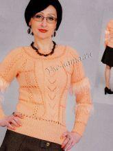 Пуловер персикового цвета, фото
