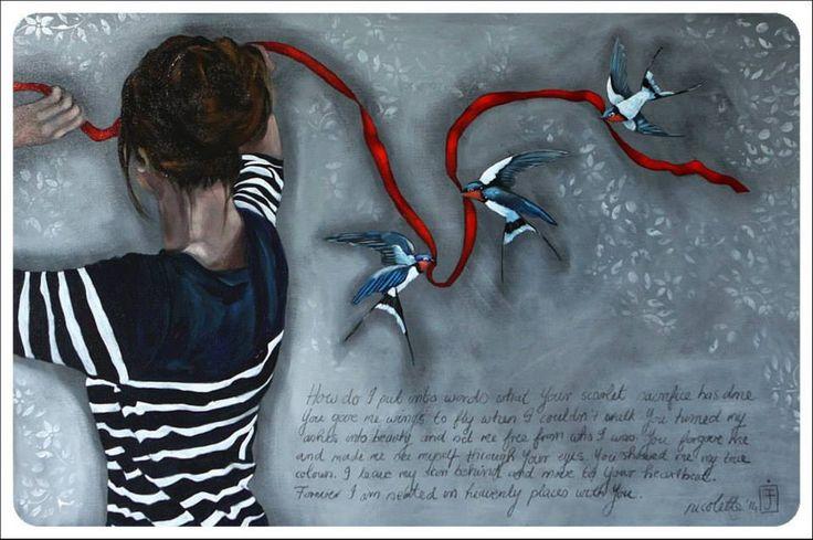 You show me my true colours. Painting @ Nicolette Geldenhuys Art