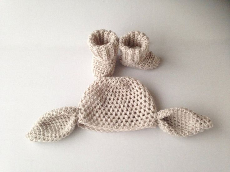 Crochet big ears, dobby hat and booties, hat and boot set, crochet beanie, novelty baby hat, handmade, baby shower, photo prop, fancy dress by MummysLittleGemUK on Etsy