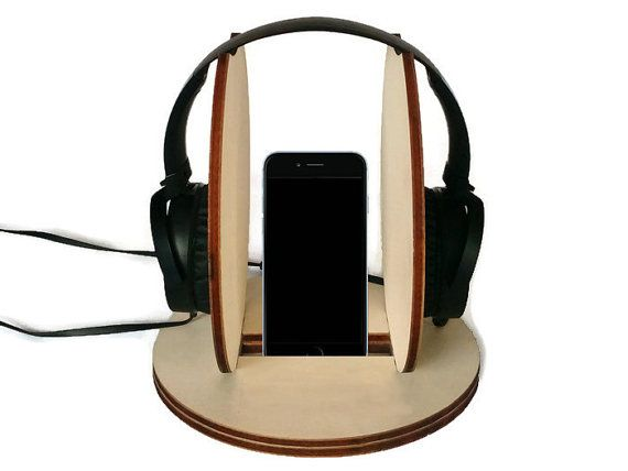 Laser cut wood headphone hangerheadphone by DigitalHandmade