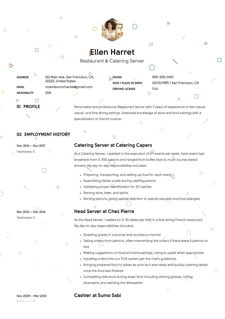 Best Resume Samples Images On